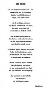 Gedicht zur Oboe
